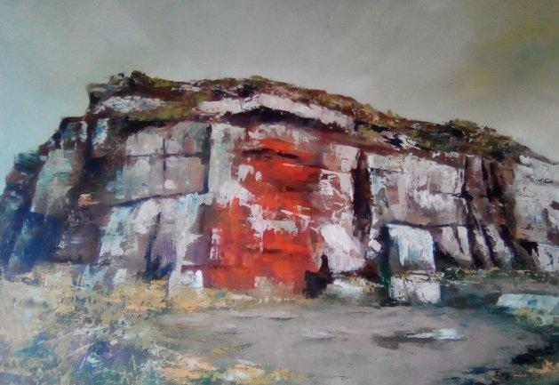 Highcliffe Nab. Original art by Cath Little