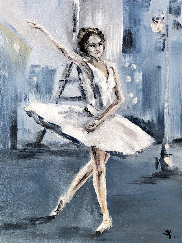 Ballerina 1. Original art by Tanya Stefanovich