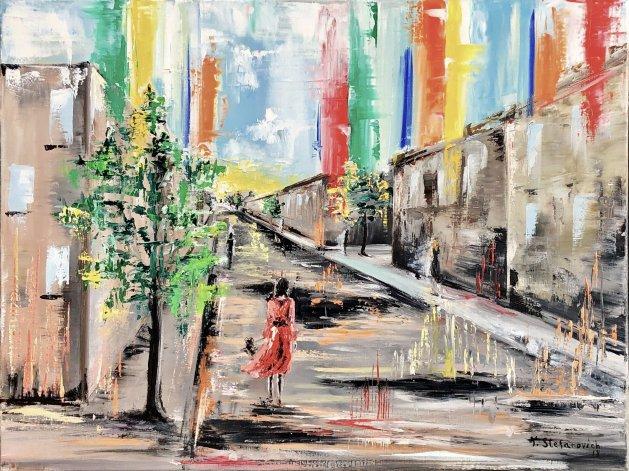 Falling rainbow. Original art by Tanya Stefanovich