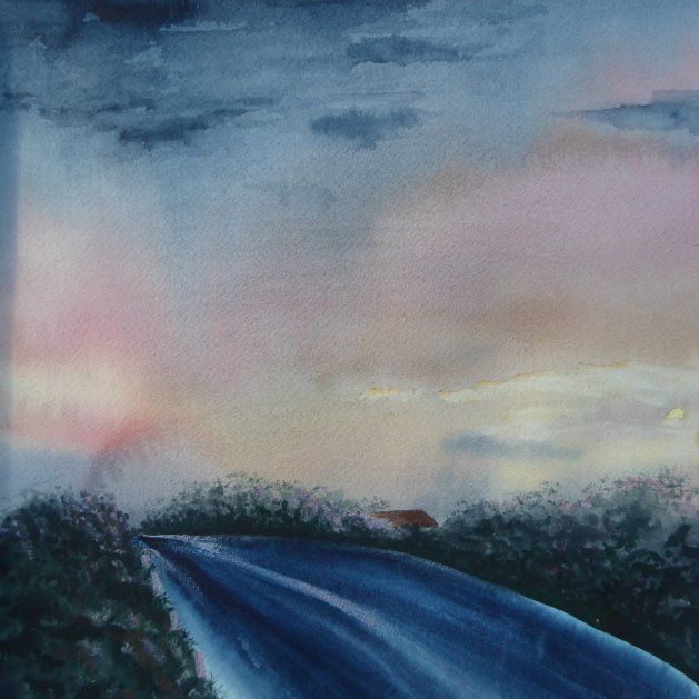 The Road Home. Original art by Mair Oliver