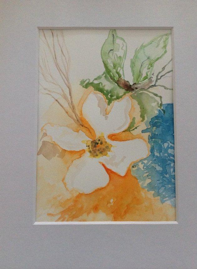Single rose. Original art by KathleenTaylor