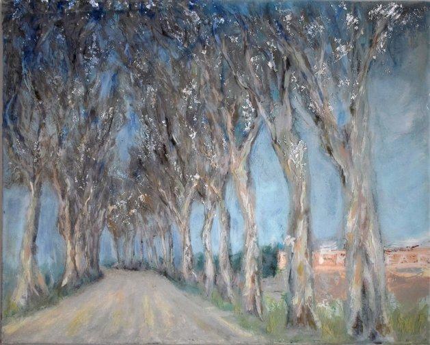 Route de Pommard. Original art by SB Boursot