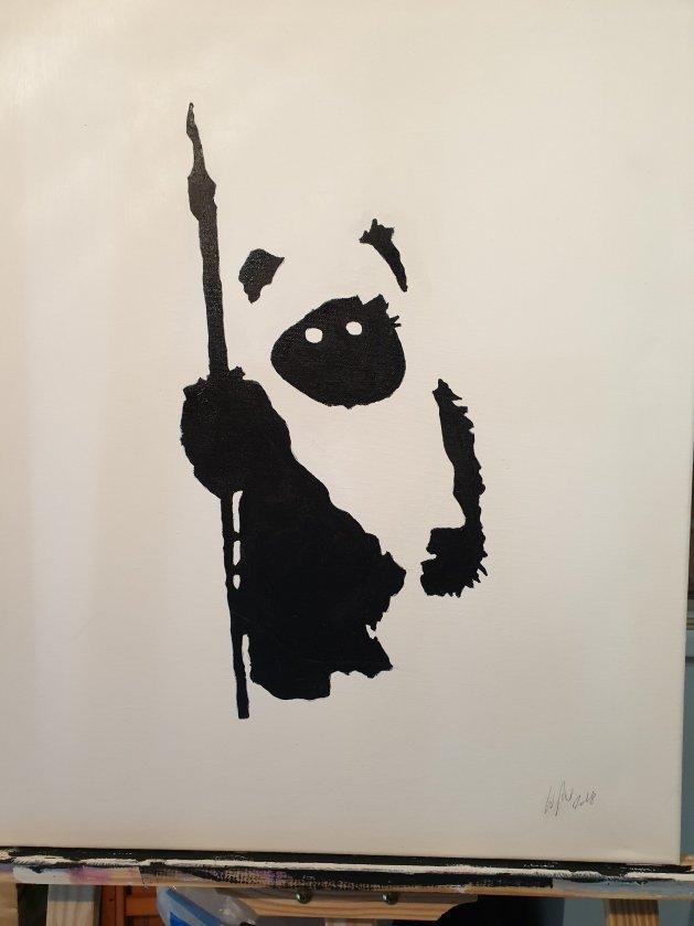 Ewok mono. Original art by William Pow