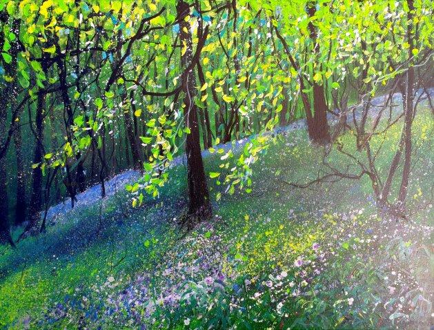 Shady Bluebell Wood. Original art by Teresa Tanner