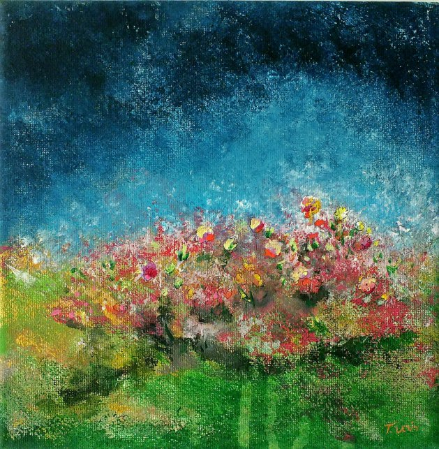 Splash of Meadow. Original art by Tracey Unwin