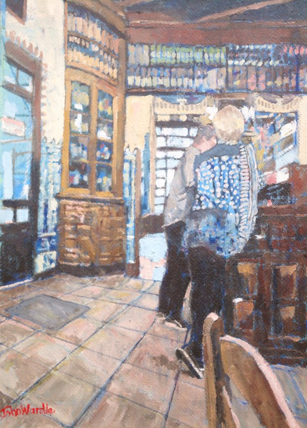 Spanish Tapas Bar. Original art by John Wardle