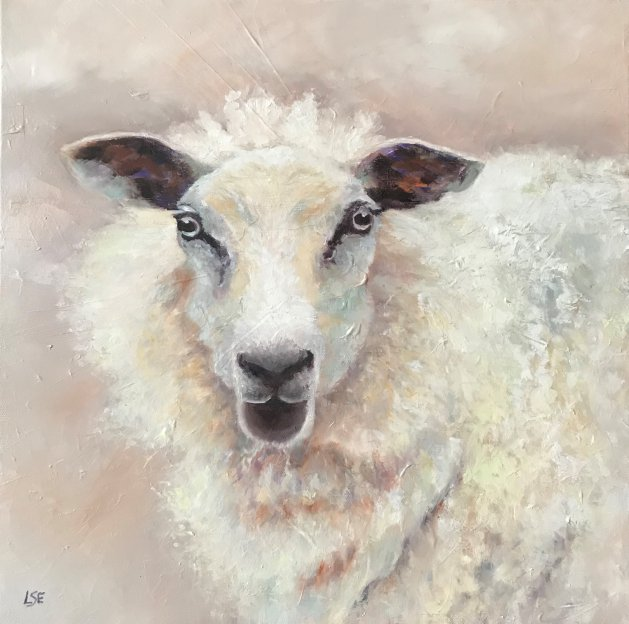 I See Ewe!. Original art by Linda Edward