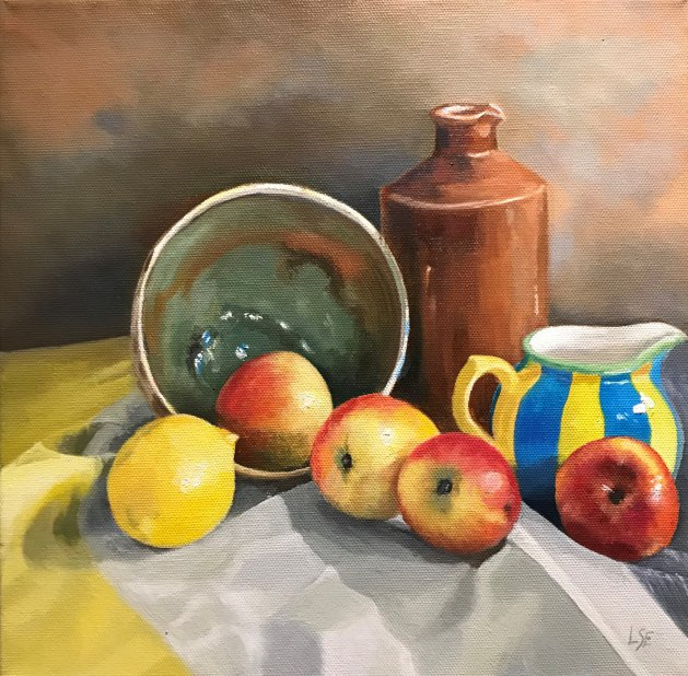 Apples & Lemons. Original art by Linda Edward