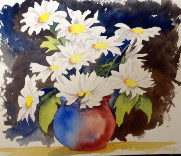 Daisy Pot. Original art by Beryl Walker