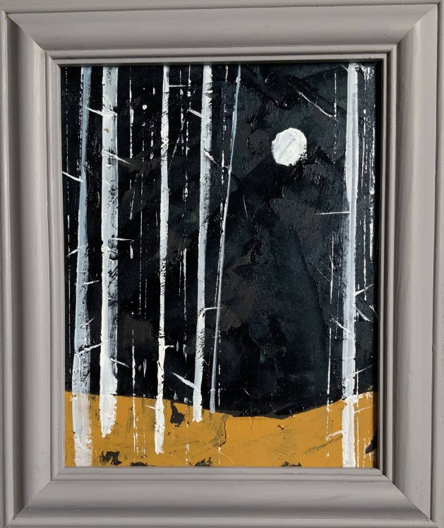 The milky white moon. Original art by Sarah Gill