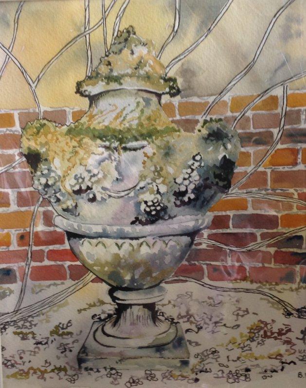 Garden Ornament. Original art by Beryl Walker