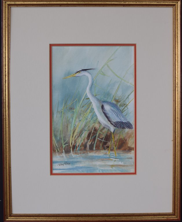 Heron (2). Original art by Anthony Rose
