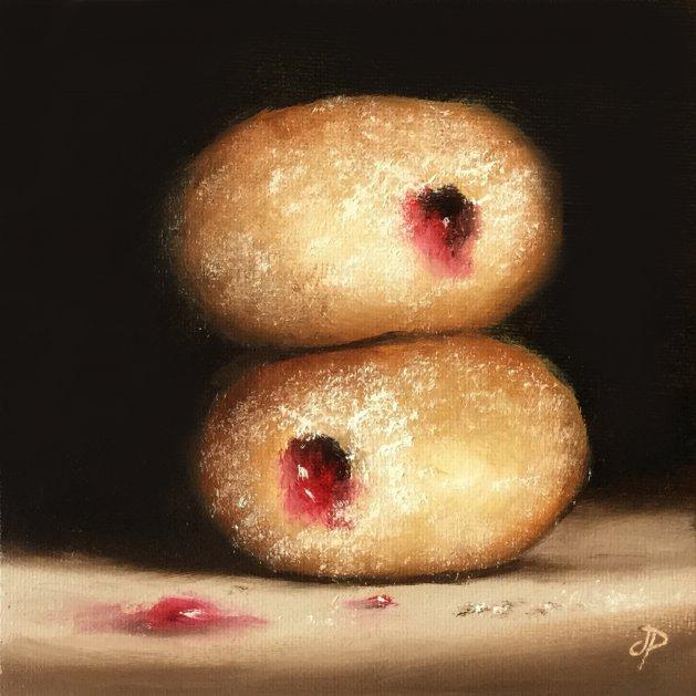 Jam donuts. Original art by Jane Palmer