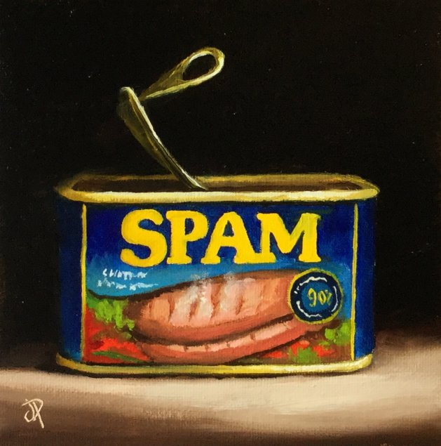 SPAM. Original art by Jane Palmer