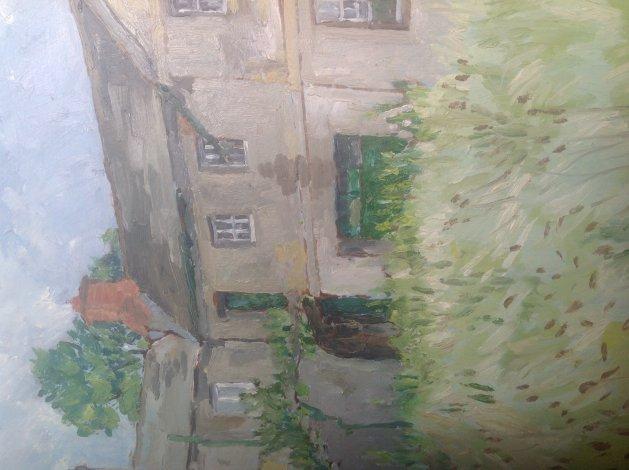 A Farmyard. Original art by John Wardle