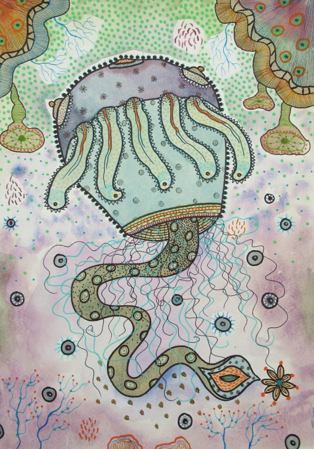 Haeckel Monster Series 2. Original art by Beatrice Margaret