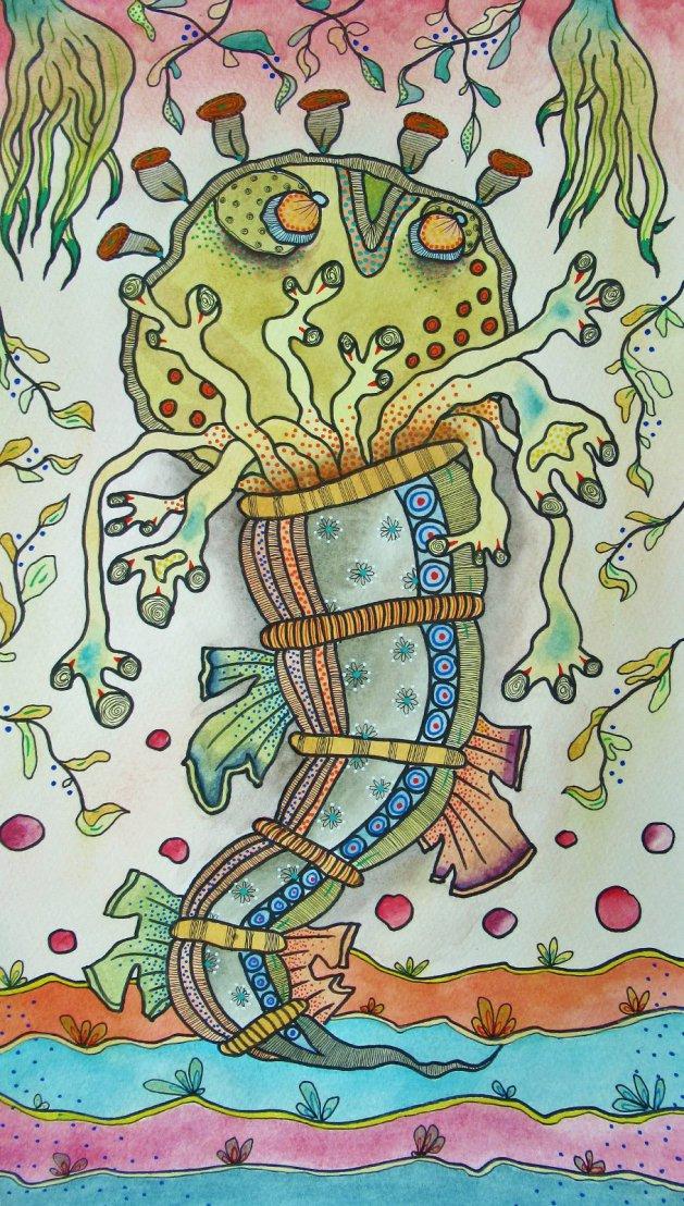 Haeckel Monster Series 3. Original art by Beatrice Margaret