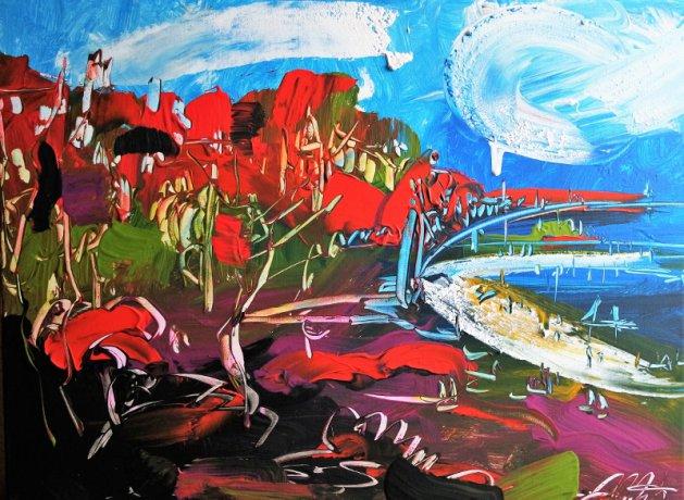 Landscape Abstract Southend 128. Original art by Eraclis Aristidou