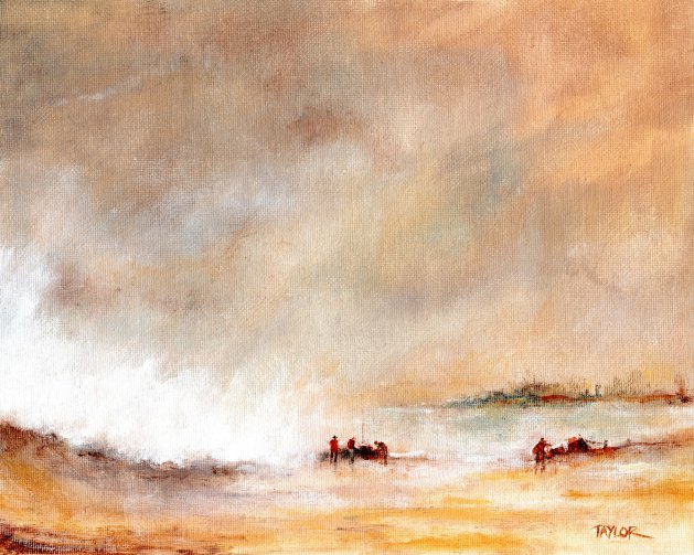 Late In The Stormy Day. Original art by Paul Taylor