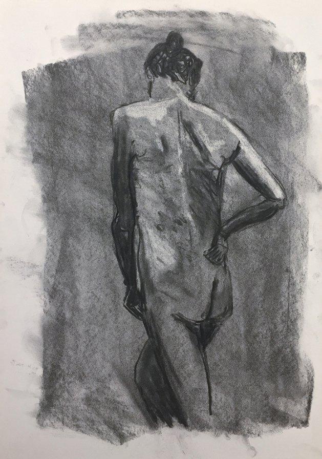 Life Study 5. Original art by Tom Rose