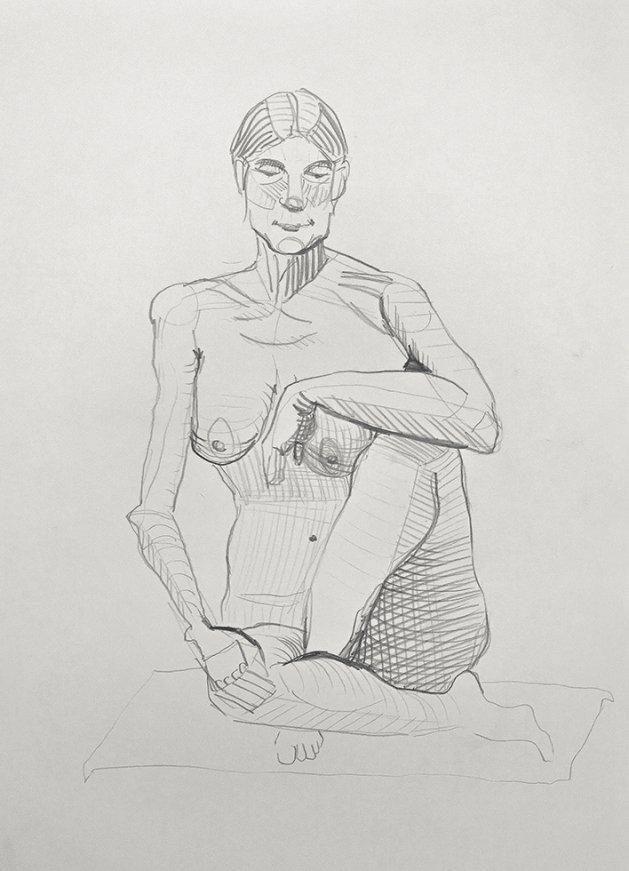 Life Study 6. Original art by Tom Rose