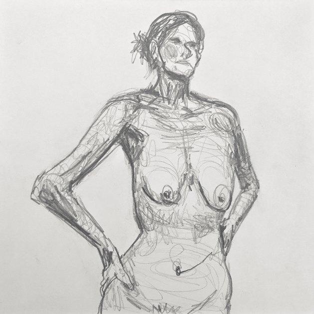 Life Study 9. Original art by Tom Rose