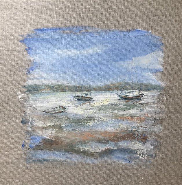 Low Tide. Original art by Linda Edward