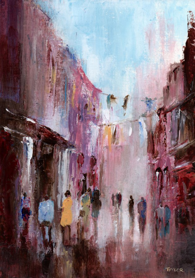 Street Life. Original art by Paul Taylor