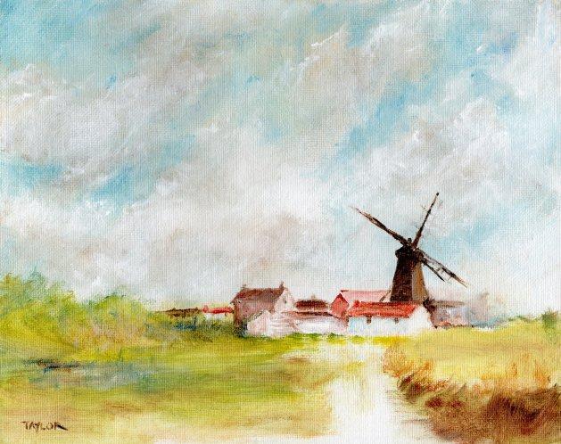 Windmill Way. Original art by Paul Taylor