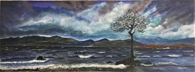 Wuthering. Original art by Cheryll Hodgson