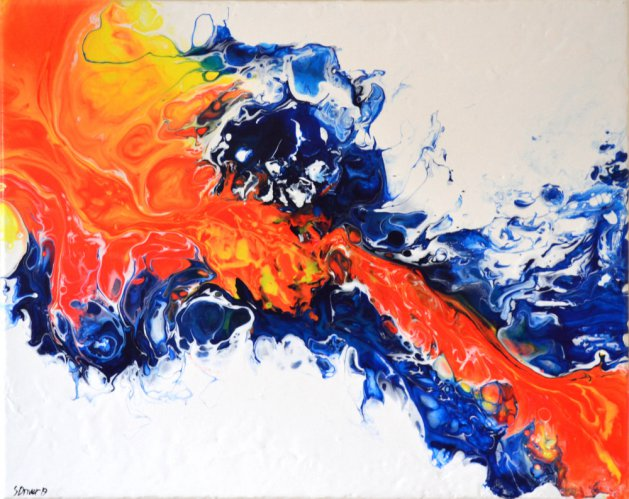 Abstract Acrylic #4. Original art by Steve Driver