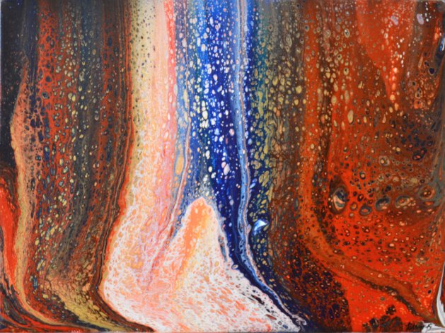 Abstract acrylic #6. Original art by Steve Driver