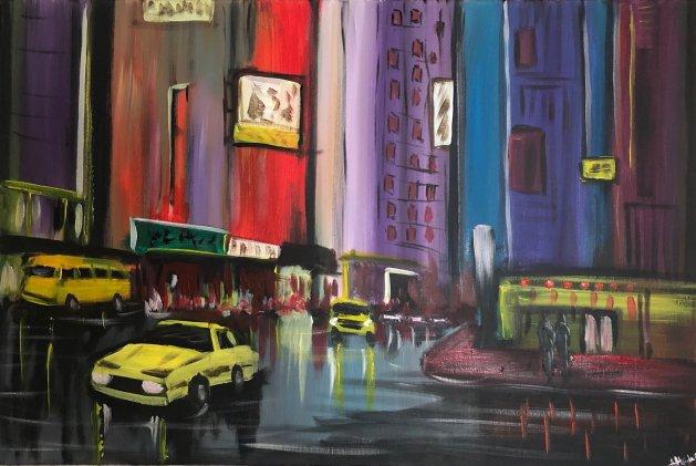 Contemporary City. Original art by Aisha Haider