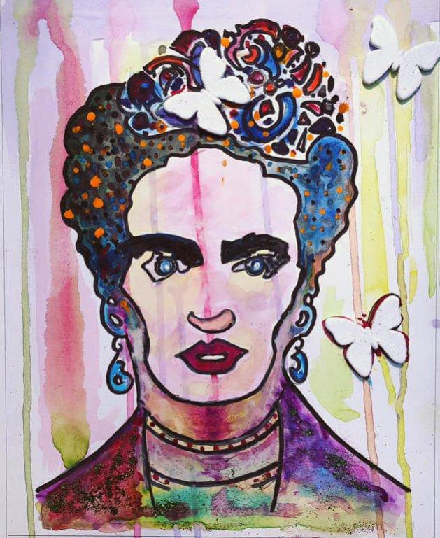 Frida. Original art by Ashlie Urquhart