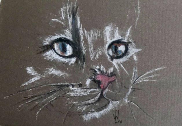 Whiskers. Original art by Wendy Lloyd
