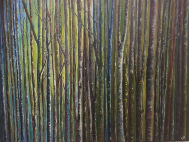Wood for the Trees. Original art by Cheryll Hodgson