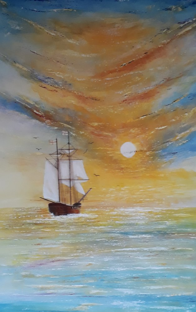 Voyage to Paradise. Original art by Keith Groves