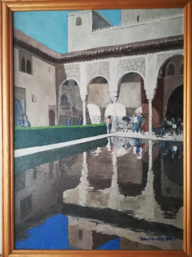 A View in the Alhambra. Original art by John Wardle