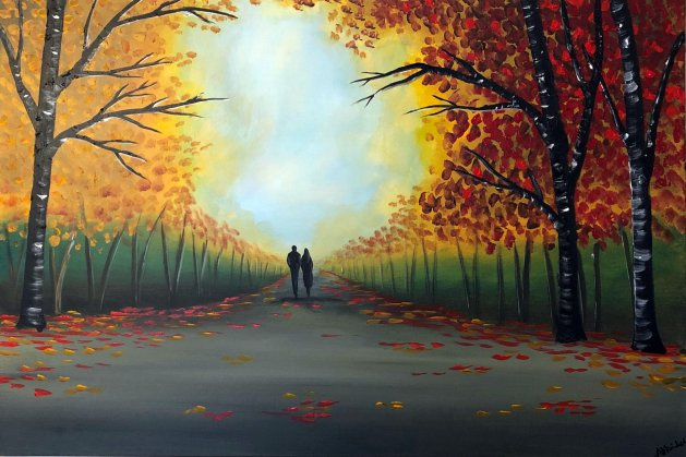Autumn Bliss. Original art by Aisha Haider