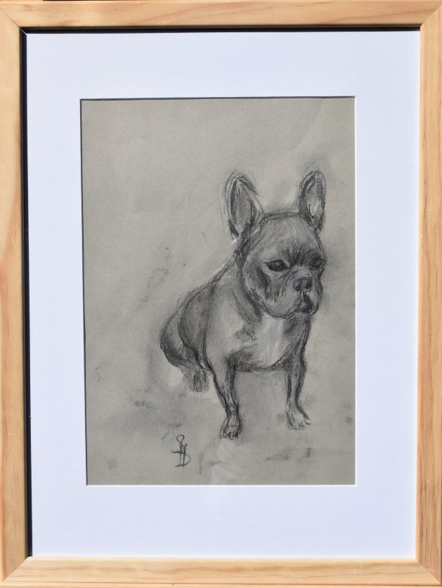 Bulldog. Original art by SB Boursot