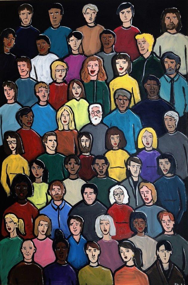 Faces 5. Original art by Aisha Haider