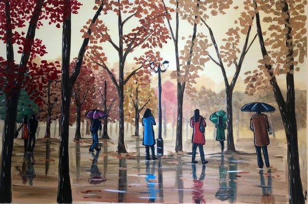 Park Reflections. Original art by Aisha Haider