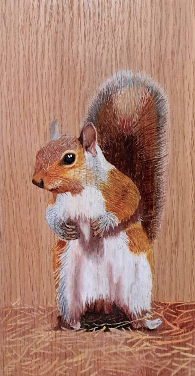 Painting of a squirrel. Original art by Eric Rose