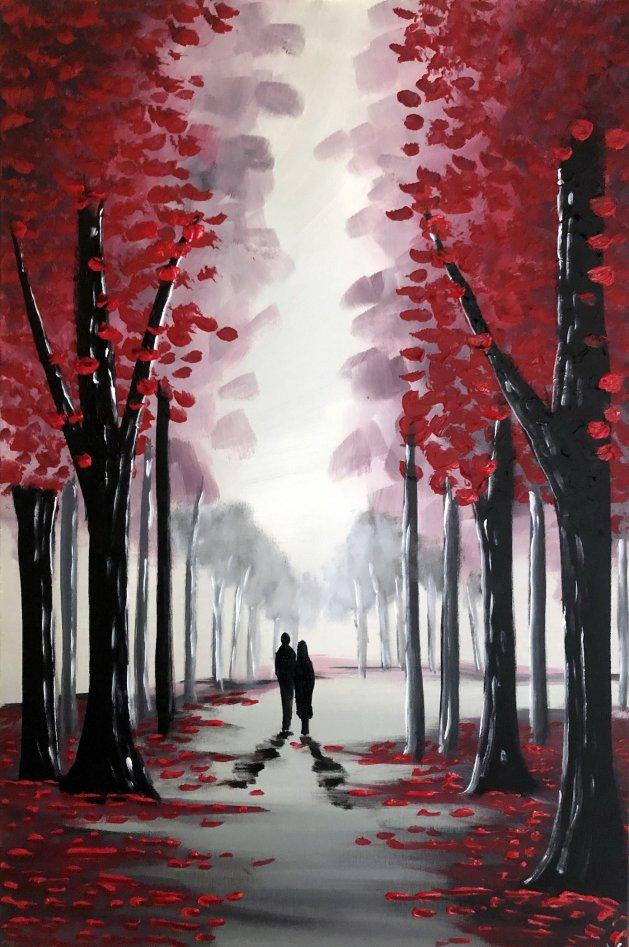 Through The Red Trees 2. Original art by Aisha Haider