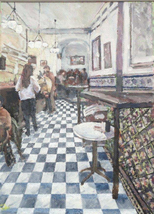 Bar Europa Sevilla. Original art by John Wardle
