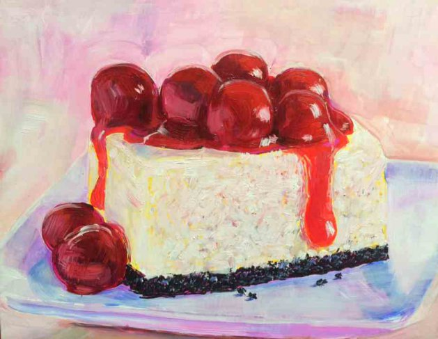 Cherry Cheesecake. Original art by George Ganciu