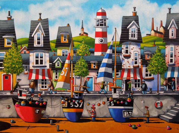 """The Cornish Colours "" 2   16 x 12. Original art by Paul Kiernan"