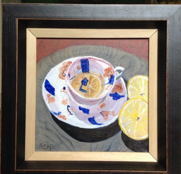 Tea with Lemon. Original art by Sarah Nesbitt