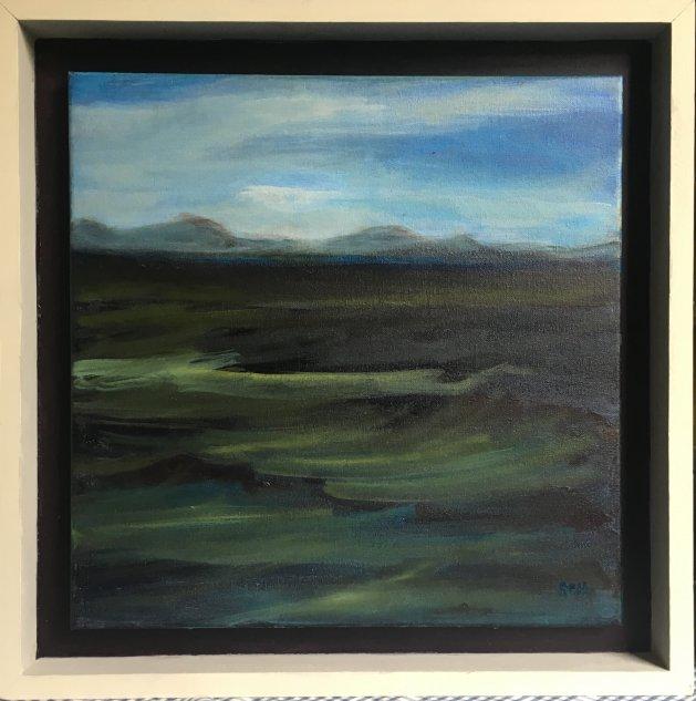 Green Sea Abersoch. Original art by Sarah Nesbitt