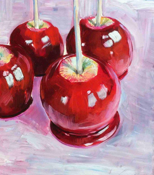 Candy Apples. Original art by George Ganciu